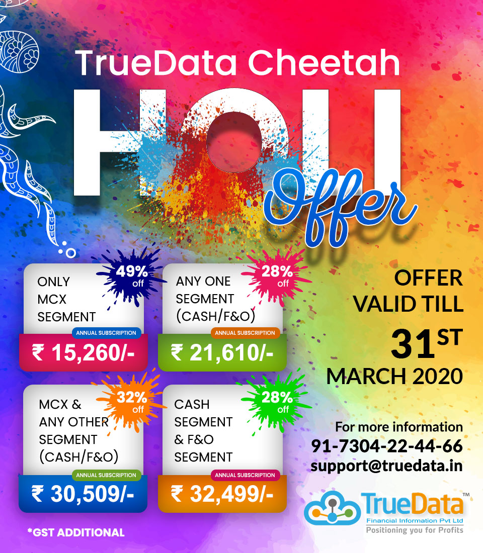 TrueData Cheetah Holi OFFER
